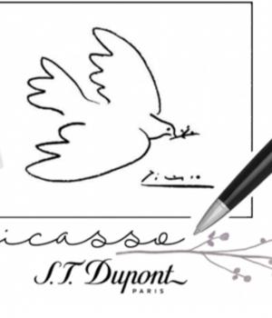 Coffret ST DUPONT série limitée Briquet Ligne 2 et Stylo Roller Picasso Dove